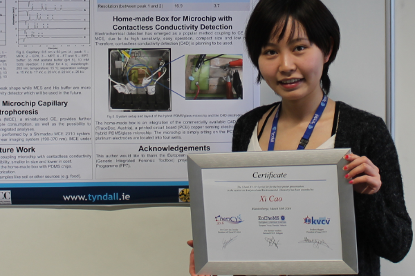 Xi Cao wins ChemCYS 2016 poster competition
