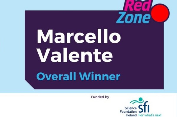 "Marcello Valente wins Red Zone in SFI funded STEM initiative ""I'm A Scientist, Get Me Out of Here!"