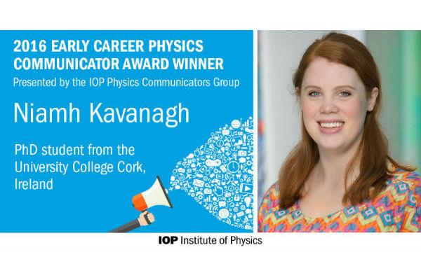 PhD student Niamh Kavanagh wins early career physics communicator award
