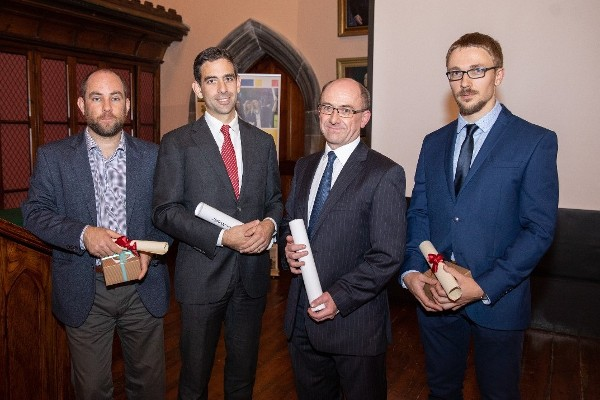Tyndall winners at UCC Staff Recognition and Research Awards 2018