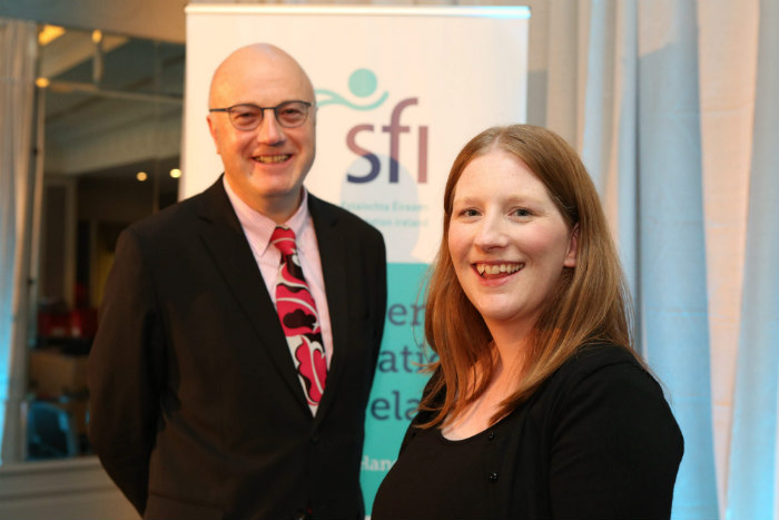 Dr Lynette Keeney pictured with Professor Mark Ferguson