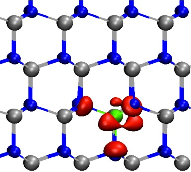Localised indium state above the conduction band edge in Al1-xInxN.