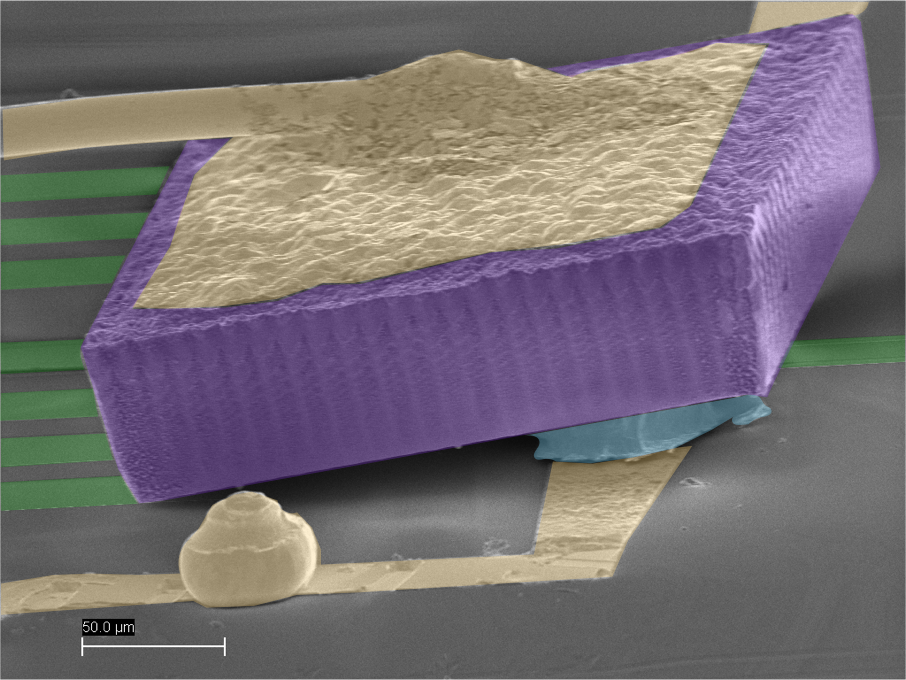 "Integrating a ""tilted"" VCSEL (vertical-cavity surface-emitting laser) directly on top of a Si-PIC, for low-loss insertion into a grating-coupler structure"