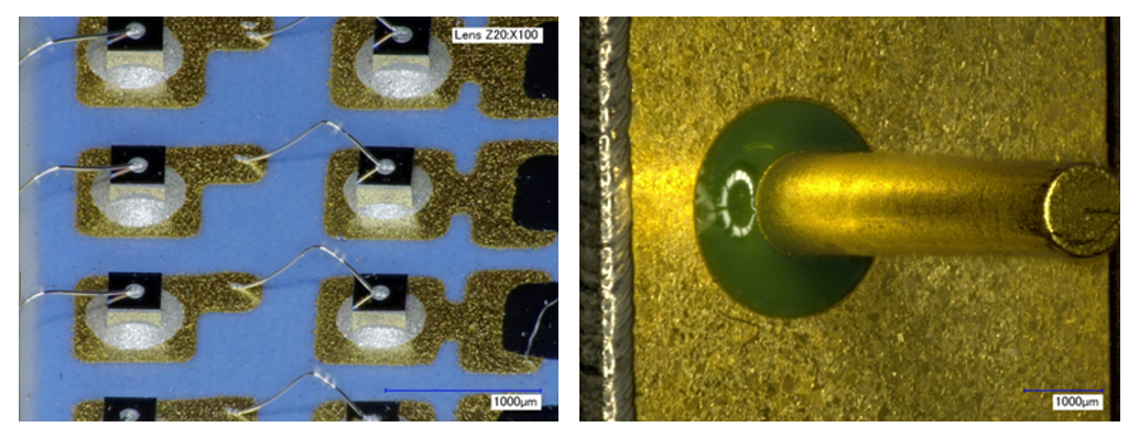 Examples of images produced using the Tyndall Keyence VHX2000 3D Optical Imaging System during recent space component analysis tasks.